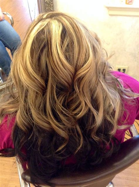 hair colors brown on bottom blonde on top blonde highlights blondes and highlights on pinterest of