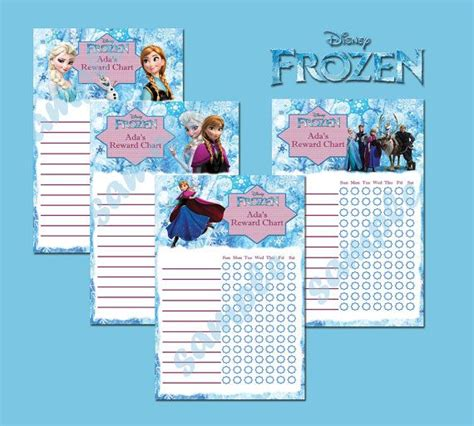 printable reward charts frozen printable disney frozen theme personalised behavior by