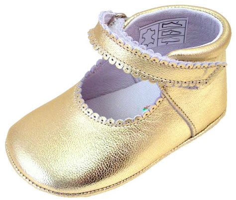gold crib shoes de osu do 103 baby gold metallic leather dress