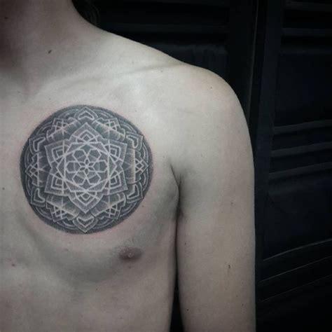 mandala tattoo artist utah mandala chest tattoo dotwork tattoo style pinterest