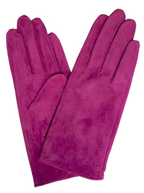 ladies hot pink leather gloves dents womens suede gloves classic style tout ensemble