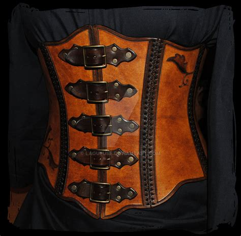 Sweater Armour Keren leather corset by lagueuse on deviantart