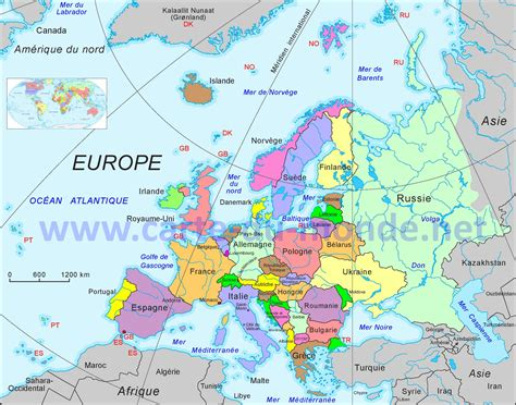 Search Europe Info Mappemonde Europe