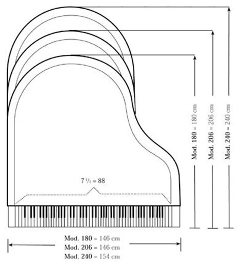 baby grand piano template types sizes of pianos