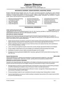 Manufacturing Engineering Sle Resume by Mechanical Engineering Resume Exles Search Resumes Letter Sle