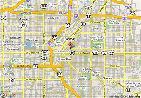 Colorado Comfort by Map Of Comfort Inn Denver Downtown Denver