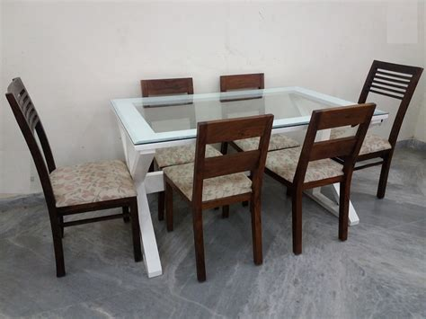 glass dining table for 6 glass top 6 seater dining table used furniture for sale