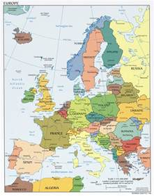 map usa to europe maps of europe and european countries political maps