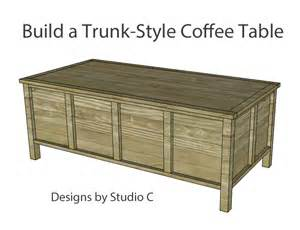 trunk style coffee table build trunk style coffee table