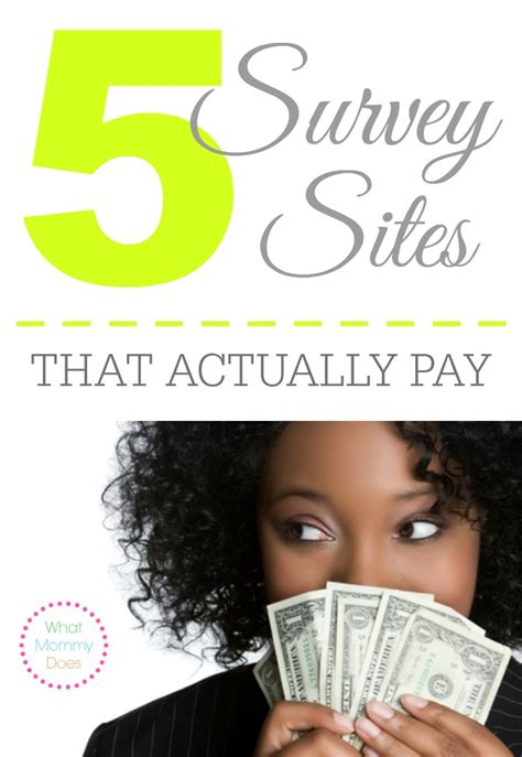 Survey Websites That Pay - 5 survey websites that actually pay you what mommy does