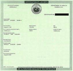 Real Birth Certificate Template by Birthers