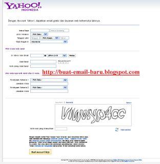 buat email yahoo susah isi semua kolom di atas jika kurang jelas klik gambar