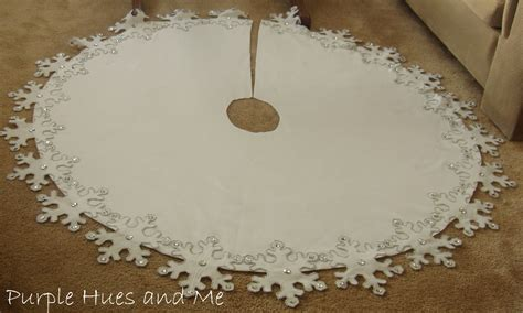 snowflake tree skirt crafting diy projects decorating