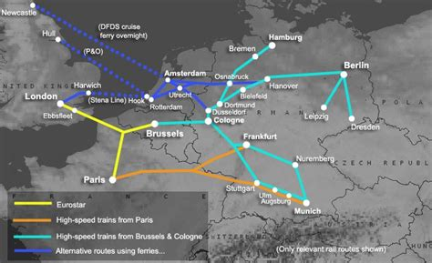 trains germany map how to travel by from to germany from 59
