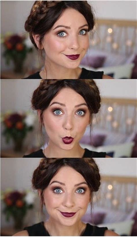 zoella makeup tutorial zoella fall makeup tutorial with berry lip and gold smokey