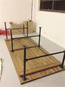 Custom Table Pads For Dining Room Tables by Pipe Leg Table And Other Modern Industrial Techie Looking