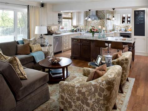 kitchen family room open plan kitchen design decorating ideas hgtv