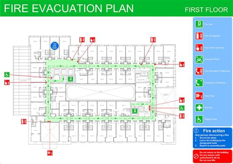 Fire Evacuation Plans Original Cad Solutions Emergency Evacuation Route Template