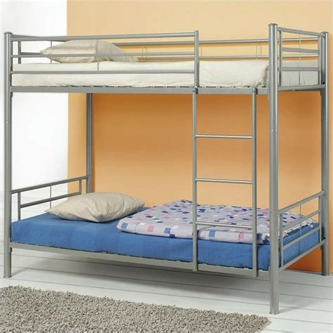metal bunk bed coaster denley metal bunk bed in silver finish 4600x2
