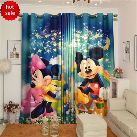 minnie mouse blackout curtains mickey mouse curtains reviews online shopping mickey