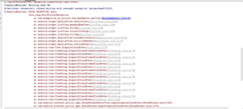 layoutinflater error in android listview android sqlitedatabase stack overflow