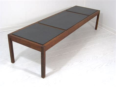 mid century slate tile top coffee table bench mix vintage