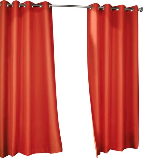 red outdoor curtains outdoor grommet top curtain panel red 50x84