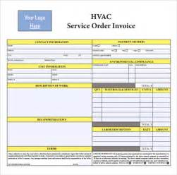 maintenance invoice template free sle hvac invoice template 8 documents in