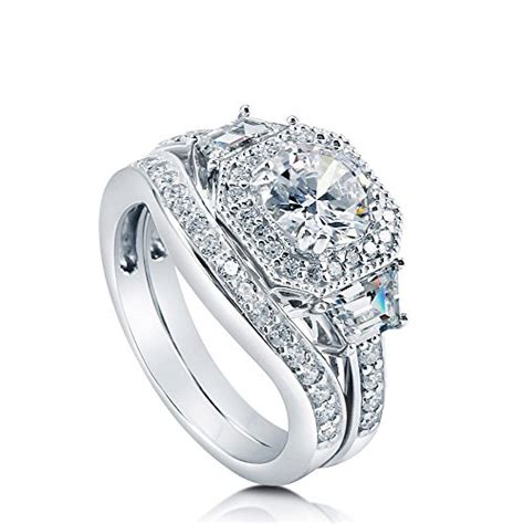 cheap deco engagement rings berricle vr080 01 8 berricle rhodium plated sterling silver cubic zirconia cz deco halo