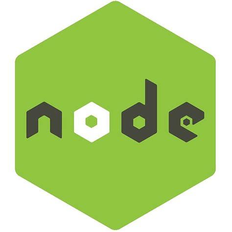 node js quot node js logo quot posters by th1341 redbubble