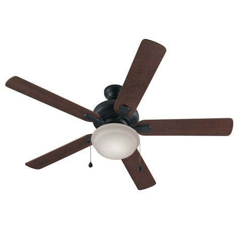 Indoor Ceiling Fan With Light Shop Harbor Caratuk River 52 In Bronze Downrod Or Mount Indoor Ceiling Fan With