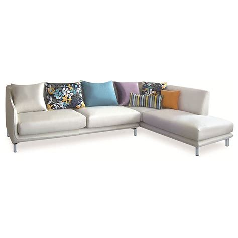 Right Sectional Sofa Allison Sectional Sofa White Fabric Right Facing Chaise Dcg Stores