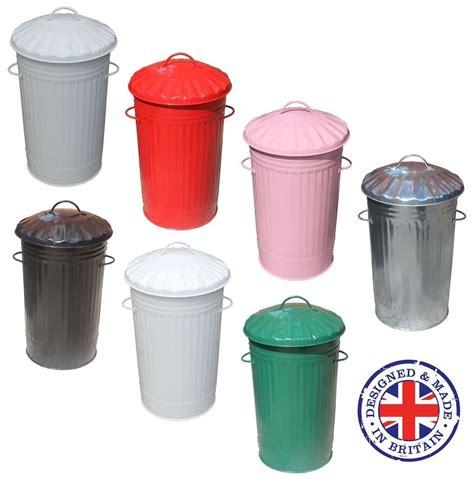 Kitchen Trash Bins by 46l Litre Galvanised Metal Kitchen Bin Slim Rubbish Waste Dustbin Storage Ebay