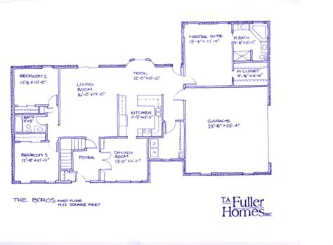 drawing floor plans by hand t a fuller homes inc bloomington indiana