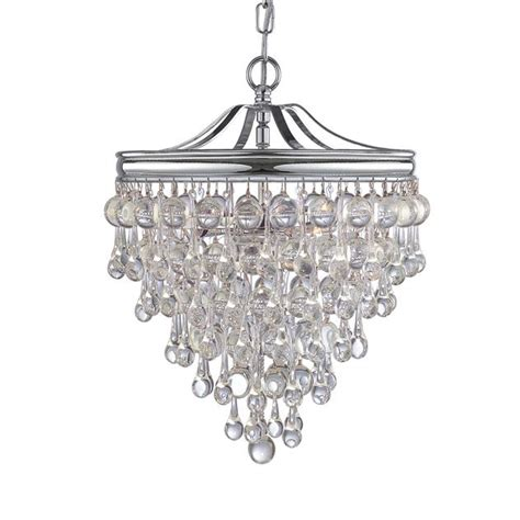 crystorama calypso chandelier crystorama crystorama calypso 3 light chrome mini chandelier
