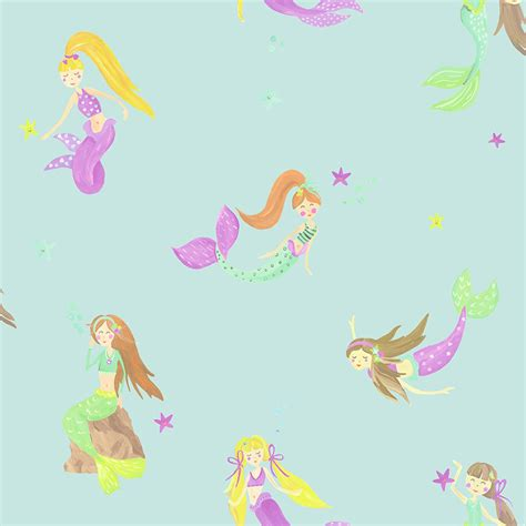 Sale Bricks Qsob 46002 Princess World The Mermaid arthouse imagine glitter wallpaper mermaid
