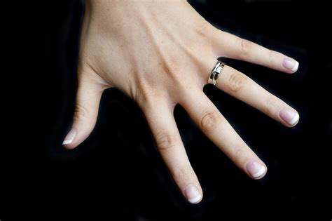 Black Finger With A Ring by Wedding Rings For On Finger