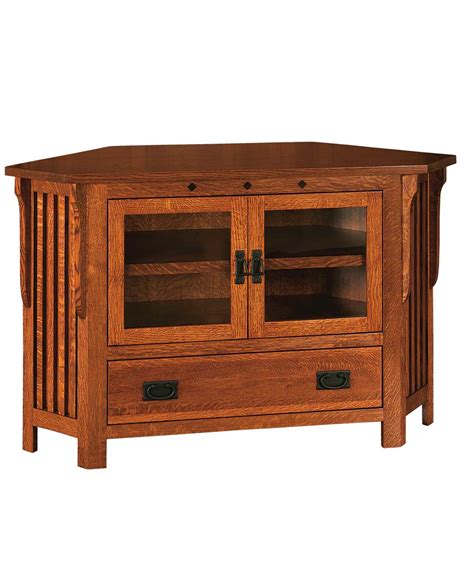 Country Mission 1 Drawer 1 - royal mission 2 door 1 drawer corner tv stand amish