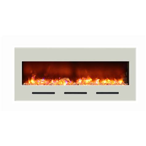 Flush Electric Fireplace by Amantii And Built In Flush Mount Electric Fireplace With 51x23 Inch White Glass Front