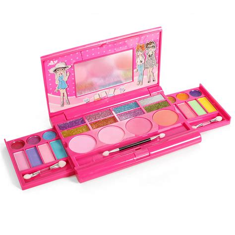 Set Kid princess makeup set palette with mirror