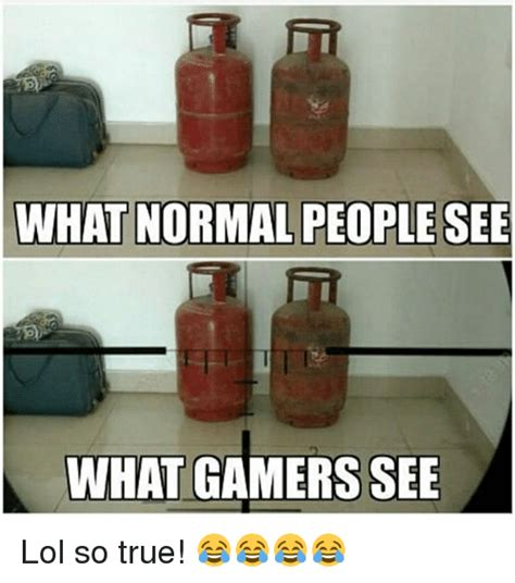 What Memes - what normal people see what gamers see lol so true