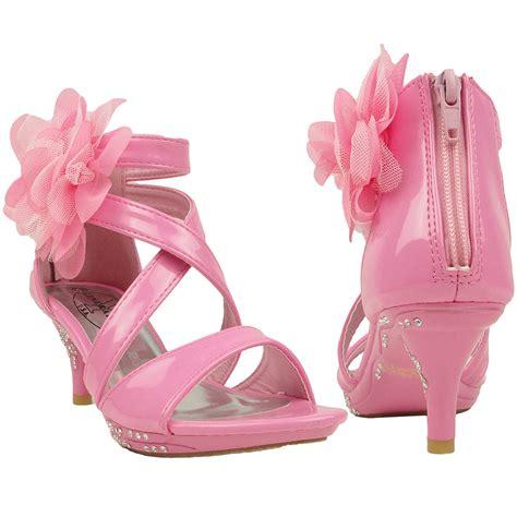high heels toddlers new dress sandals strappy rhinestones high heel