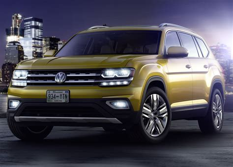volkswagen atlas 7 seater volkswagen atlas 7 seat suv officially unveiled