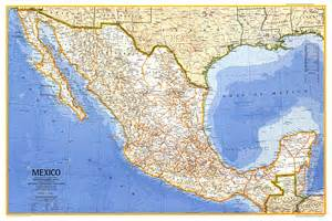 Mexico Wall Map by Mexico Map North America Map Archive Wall Maps