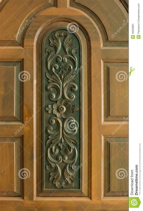 Home Interior Design Kerala sculpture on teakwood door stock image image 30529861