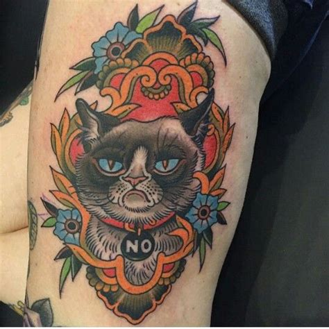 tattoo sylvester cat grumpy cat tattoo by gordon combs things that inspire
