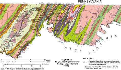maryland geologic map geologic maps of maryland allegany county 1968