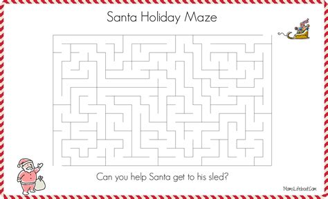 free printable christmas maze games printables archives