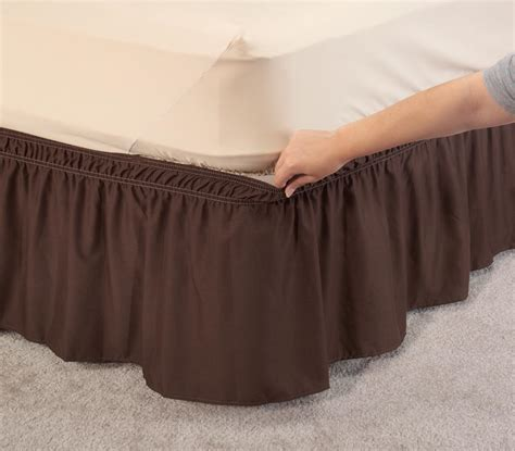 solid wrap around elastic bed skirt by oakridge comfortstm