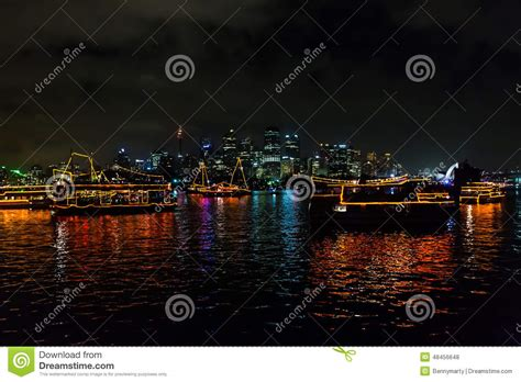 opera house new years 2015 sydney new year s 2015 shining boats editorial stock